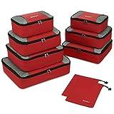 Gonex Organiseurs de Bagage Sacs Rangement de Valise Voyage 9 pcs Rouge...