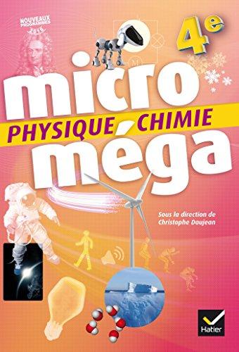 Microméga - Physique-Chimie 4e Éd. 2017 - Livre élève