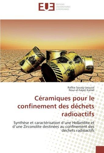 Ceramiques pour le confinement des dechets radioactifs: Synthèse et caracterisation d'une Hollandite et d'une Zirconolite destinees au confinement par Rafika Souag-Laouzai