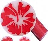 1 Stange FIMO-EINLEGER / FIMO-SHAPES 'HIBISCUS-Blüten, ROT' #cat03 ... die ausgefallene Nailart für Ihre Fingernägel!