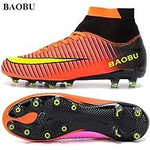 BAOBU top del alto de Spike tacos de fútbol profesional de adultos zapatos de atletismo