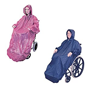 Aidapt Waterproof Wheelchair Mac with Sleeves (Choose Colour)