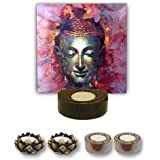 TYYC Diwali Gifts Creative Lord Buddha Tealight Holder Diwali Decoration Candle Lights For Puja, Home, Office Set Of 5