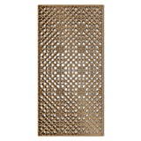 NISH! 'Deco Panel' Collection | Can be used as Room Partitions, Screens, Dividers, Jali, Wall Art, Hanging, Décor, Doors (MDF Wood - 12mm thick, 2ft x 4ft, Natural Color, 1 Piece) for Living Room, Drawing Room, Kitchen Cabinet, Cupboards, Furniture