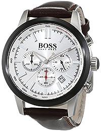 Hugo Boss Herren-Armbanduhr Chronograph Quarz Leder 1513184