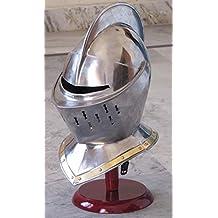 Europea cerrado Casco–Medieval Knight Armour Helm LARP Role Play disfraz casco