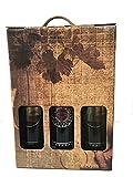 Estuche para los amantes del vino con dos botellas Carabal Rasgo y una botella Carabal Cávea para regalar