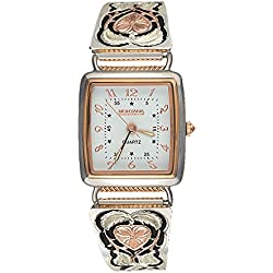 Montana Silversmiths Women's 'Time' Quartz Stainless Steel and Alloy Dress Watch, Color:Two Tone (Model: WCH127RG)
