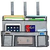 QEES Nachttisch Lagerung Organizer Etagenbett zum Aufhängen Organizer, grau, 19×3×12.6inch