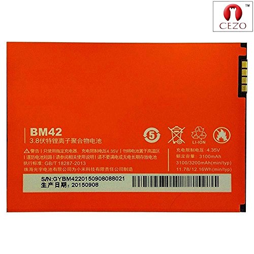 CEZO Mobile Battery For Redmi Note (BM42)