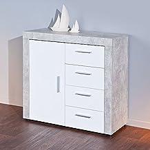 suchergebnis auf amazon.de für: schlafzimmer kommode weiß und beton - Kommode Weiß Schlafzimmer