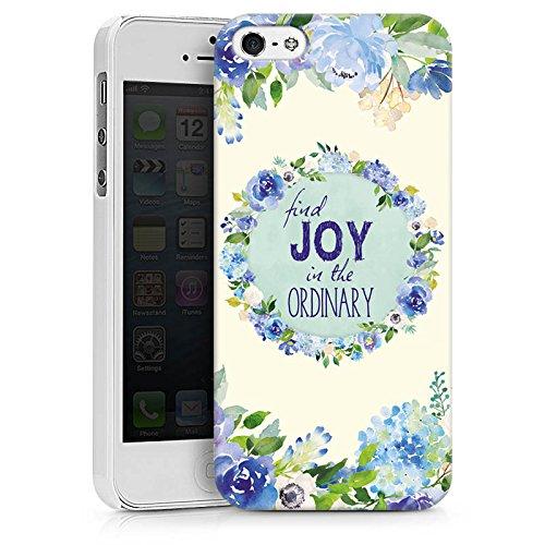 Apple iPhone X Silikon Hülle Case Schutzhülle Blumen Spruch Muster Hard Case weiß