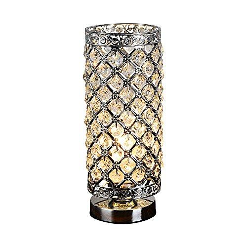 Pointhx Moderne kreative Kristall-Tischlampe, 28 cm hohe elegante Kristall-Schreibtisch-Licht-klassische Entwurfs-Tischlaterne passend für Hauptcafé-Wohnzimmer-Hotel - 28 Cm Hoch Tischlampe