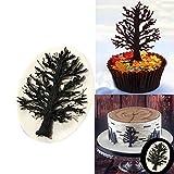 1PC casa fai da te Chocolate Tree figura di fogli di decorazione della torta della muffa del fondente del silicone di figura della muffa Albero Supplies Sugarcraft di cottura