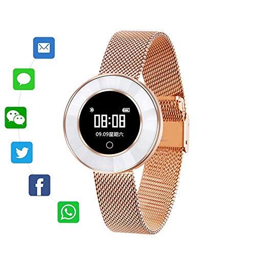 ZDMSEJ Smart Watch Mode Smart Band gutes Geschenk for Freundin Schrittzähler IP68 wasserdichtes Armband Blutdruck for Frauen Damen - Erholung Konzentrieren