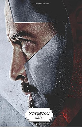 Notebook : Iron Man vs Captain America: Journal Dot-Grid,Graph,Lined,Blank No Lined, Small Pocket Notebook Journal Diary, 120 pages, 5.5
