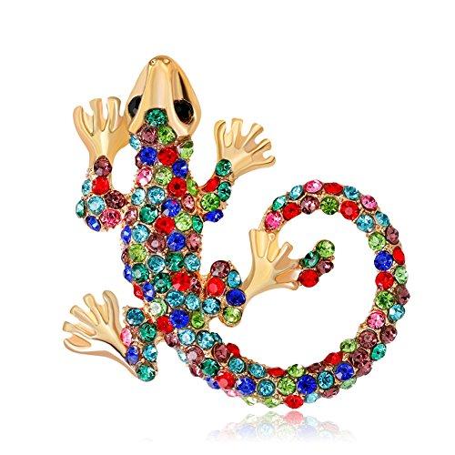 Skyeye 1 Stück Diamant-farbige Eidechse Brosche Anzug Kragen Pin Coat Brosche Pin Kostüm Dekoration Corsage