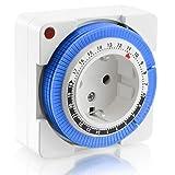 Facile utilizzo con il timer meccanico di Arendo!  Con questo timer meccanico di Arendo puoi comandare facilmente l'accensione e lo spegnimento dei tuoi apparecchi. L'apparecchio può essere  programmato facilmente per 24 ore ed offre una gr...