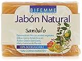 Bifemme Jabón de sándalo - 100 gr - [paquete de 4]