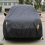 GLJY Auto-Cover, Auto-Cover Mit Fluoreszierenden Streifen UV-Schutz Allwetter-Schnee-Staub-Regen Wind-Resistent Outdoor Protector,Black,XL