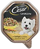 Cesar Hundefutter Nassfutter Landküche mit Geflügel und Gemüse in köstlicher Sauce, 14 Schalen (14 x 150g)