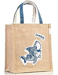 H&B Multipurpose Waterproof Jute Lunch Bag/Tote Bag/Shopping/HandBag For Office Executive Men/Women/Girls/Unisex... - B07GWCVRVL