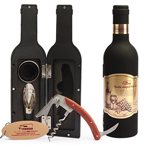 yobansa Flasche Wein Set Weinöffner Set, Wein corkacrew Set, 5Stück geprägt, Wein Zubehör Set 3 Stück
