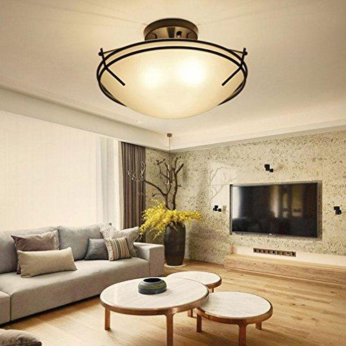 ... Eisen Weiß Glas Lampenschirm 3 Flammig Rund Kunst Deckenlampe Wohnzimmer  Esszimmer Schlafzimmer Landhausstil Deckenbeleuchtung E27 Max 60W  Ø42cm*H27cm