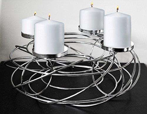 Splendida Swirl 35cm tavolo decorazione portacandele in metallo stare