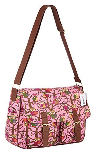 EyeCatch TM - Sac épaule canvas catable hibou