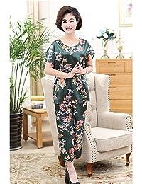 16deb932d3 HITSAN Caiyier Silk Pajamas Summer Sleepwear Women Lounge Pajama Sets  Flowear Rose Nightwear Pyjamas Suit The