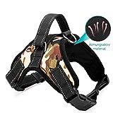 Grivey Hundegeschirr atmungsaktiv für Große Kleine Mittlere Hunde, Einstellbar Weich Brustgeschirr, Pet Weste Welpengeschirr Verstellbar Pet Dog Vest Harness (M, Camouflage)
