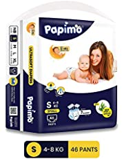 Papimo Baby Pants Diapers with Aloe Vera, Small, 46 Count