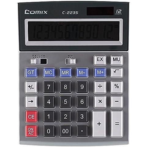 plinriseuk c-2235energia solare elettronico calcolatrice COMPUTER tasti funzione Base 12figure