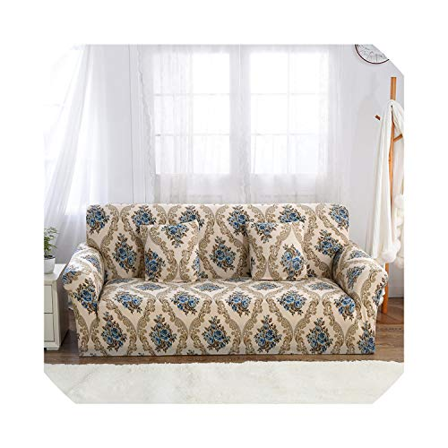 Blau Stretch-Sofa-Abdeckung Elastic Sofa-Sitzabdeckung Copridivano Sofabezüge für Wohnzimmer Couch Covers Sofa Set 1/2/3/4 Seater 1Pc, Farbe 17, Kissenbezug 2 Stück -