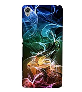 For Sony Xperia XA :: Sony Xperia XA Dual colorful smoke on black background colorful smoke black background Designer Printed High Quality Smooth Matte Protective Mobile Case Back Pouch Cover by Paresha