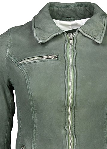 Freaky Nation in pelle giacca Cloudy Green Verde