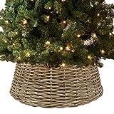 URBNLIVING Grande in Rattan Albero di Natale Gonna Natural Bamboo
