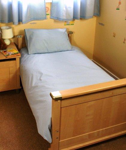 LIGHT BLUE COT BED / JUNIOR DUVET SET 100% COTTON