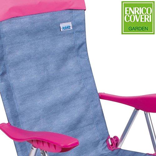 Sedie Sdraio Alluminio Con Poggiapiedi.Sedia Sdraio Relax In Alluminio Reclinabile 5 Posizioni Pieghevole
