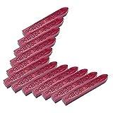 Mogoko 12Stk. totemförmige Stempelsiegelwachs-Sticks mit Docht zum Versiegeln von Briefen, in Vintage-Look weinrot