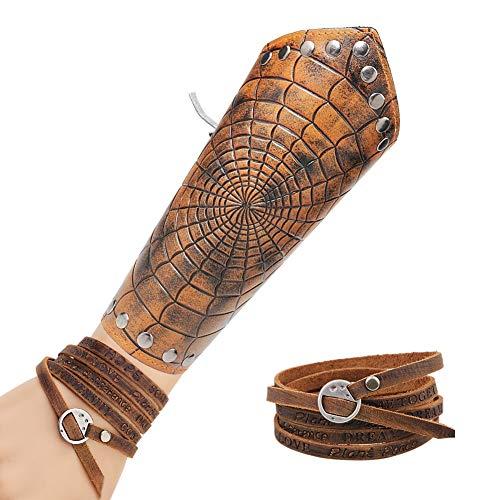 Nordic Viking Armband Mit Mittelalterlichen Ritter Armschienen,