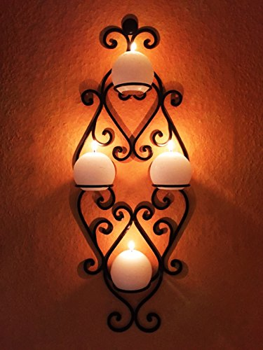 Orientalischer Wandkerzenhalter Kerzenleuchter Acadia - 66cm
