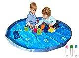 Kinder spielen Picknickdecke Outdoor-Matte Spielzeug Aufbewahrungsbeutel schnell organisieren Pocket Durchmesser 60 Zoll große tragbare und Sicherheit (Blaue Blume)