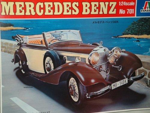 Mercedes Benz 540 K 1:24 Bausatz - Braune Streifen Schneiden