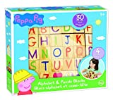 #4: Peppa Pig 30 Piece Heavy Duty 4-Sided Easy Grip Alphabet Puzzle Wood Blocks