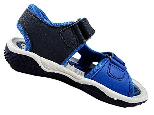 Image of Boys Minions Despicable Me Childrens Beach Walking Sandal Shoes Velcro 7-1U (Uk 11 Eur 29, Blue)