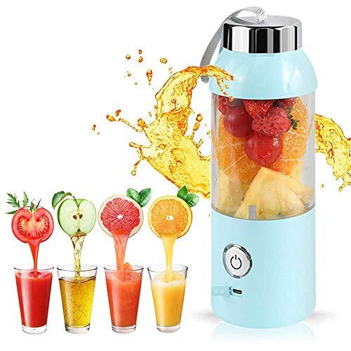 Womdee Portable Mixer Cup, Mini Juicer Mixer Cup USB aufladbare Entsafter Mixer Mixer mit Edelstahlklingen 600ML Kapazität für Obst-Gemüse-Mixer Ideales Geschenk für Reisen