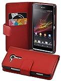 Cadorabo Sony Xperia SP Etui de Protection Structure en Rouge Cerise - Coque...