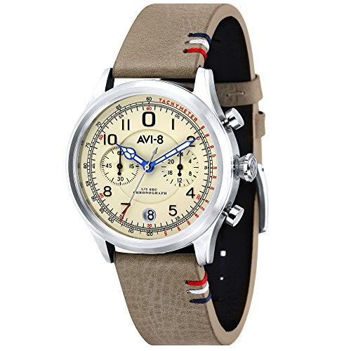 FlyBoy AV-4054-01 Men's Leather Watch – AVI-8 – Layered – 45 mm